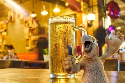 Pablo de Burddy dans un bar en Belgique